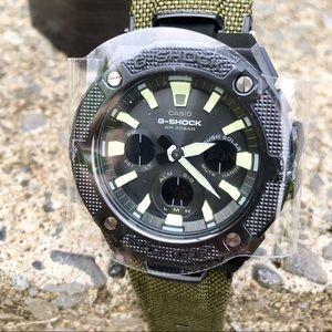Casio G Shock G Steel Solar Watch W Cordura Band Nwt